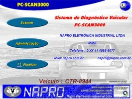 PC-SCAN3000USB - Kit c/ 1 Cabo Conector OBDII ISO. Versão 19