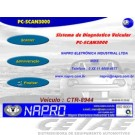 PC-SCAN3000 USB - Kit c/ 4 cabos - Conector OBDII ISO, SAE / CAM / SW, . Versão 21